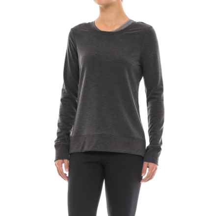 Yogalicious Missy Crisscross Back Shirt - Long Sleeve (For Women) in Heather Charcoal - Closeouts