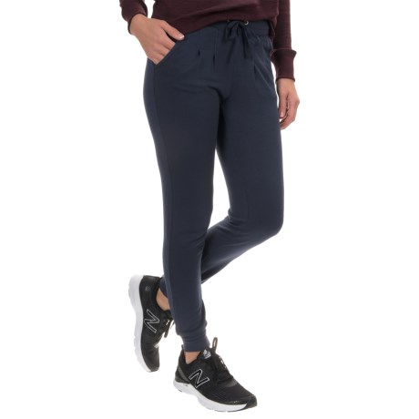 Yogalicious Pleated Joggers (For Women) in Heather Navy