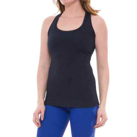 Yogalicious Racerback Tank Top (For Women) in Heather Navy - Closeouts