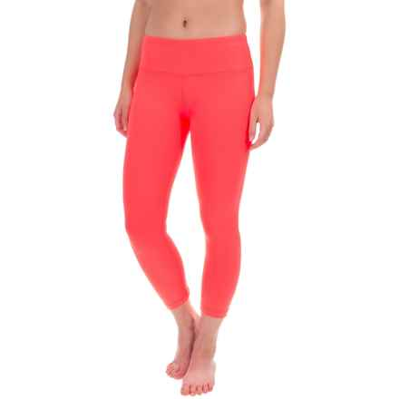 Yogalicious Ruched Back Seam Capris (For Women) in Guava - Closeouts
