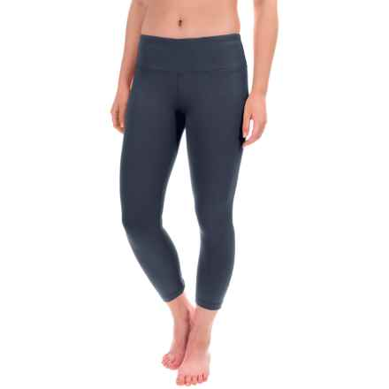 Yogalicious Ruched Back Seam Capris (For Women) in Navy - Closeouts