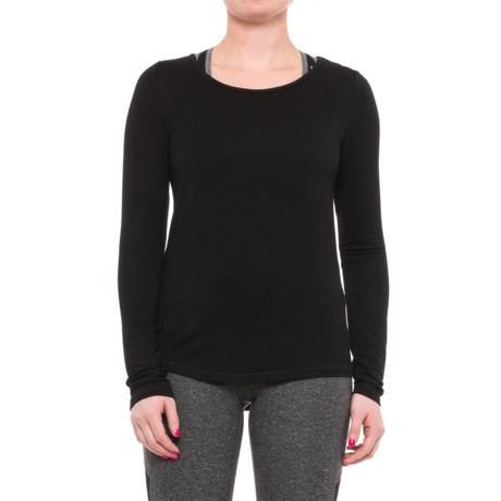 Yogalicious Split-Back Shirt - Long Sleeve (For Women) in Black