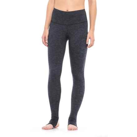 Yogalicious Stella Stirrup Leggings (For Women) in Heather Navy - Closeouts