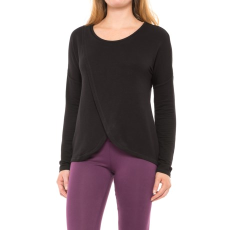 Yogalicious Tulip-Hem Shirt - Long Sleeve (For Women) in Black