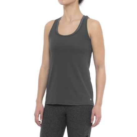 Yogalicious Twist-Back Tank Top (For Women) in Apline Slate - Closeouts