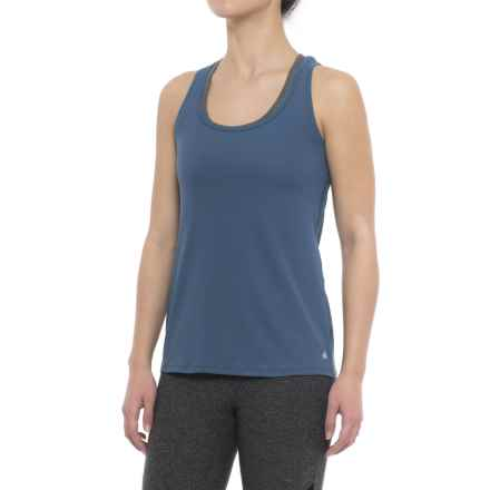 Yogalicious Twist-Back Tank Top (For Women) in Winter Blue - Closeouts