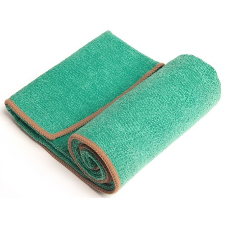 "YogaRat Hand Towel - 15x24"" in Seafoam/Tan"
