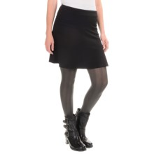 Yoked A-Line Skirt (For Women) in Black - 2nds