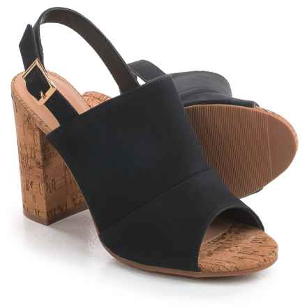 Yoki Calvin Sandals - Vegan Leather (For Women) in Black - Closeouts
