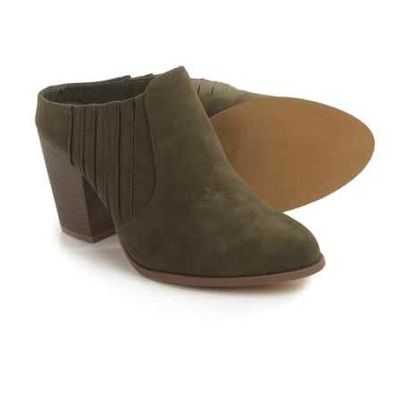 Yoki Harron Side-Gore Clogs - Vegan Leather (For Women) in Olive - Closeouts