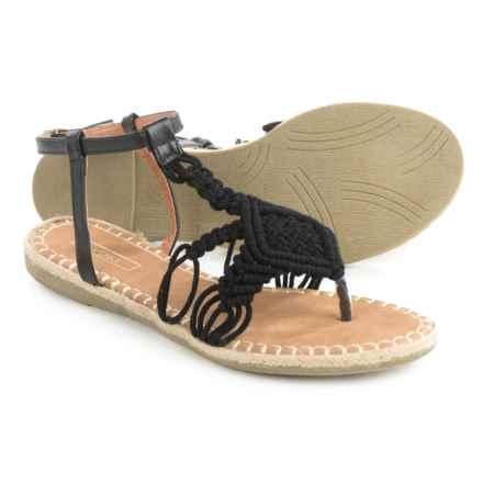 Yoki Iric Crochet Sandals (For Women) in Black - Closeouts
