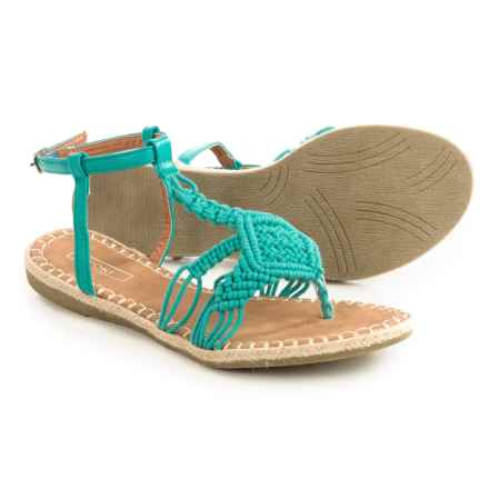 Yoki Iric Crochet Sandals (For Women) in Teal - Closeouts