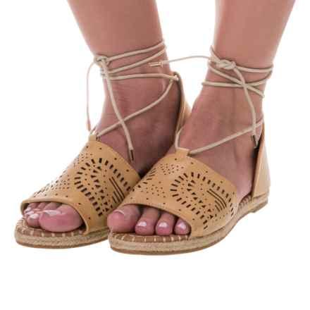 Yoki Iric Espadrille Sandals - Vegan Leather (For Women) in Camel - Closeouts