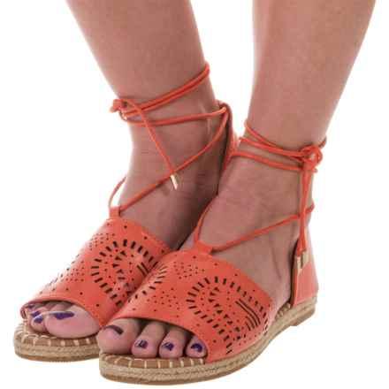 Yoki Iric Espadrille Sandals - Vegan Leather (For Women) in Orange - Closeouts