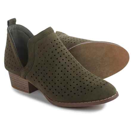 Yoki Paladino Ankle Boots - Vegan Leather (For Women) in Olive - Closeouts