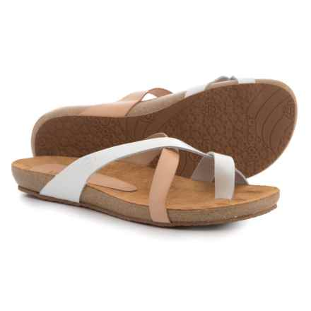 Yokono Made in Spain Ibiza 500 Sandals - Leather (For Women) in White Natural Combo - Closeouts