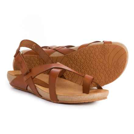 Yokono Made in Spain Ibiza 718 Thong Sandals - Leather (For Women) in Nuez