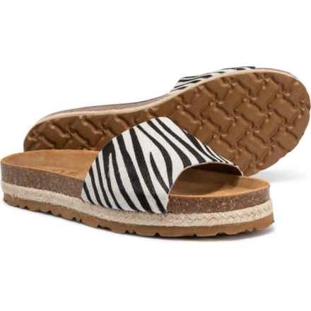 Yokono Made in Spain Tava 050 Sandals - Leather (For Women) in Zebra