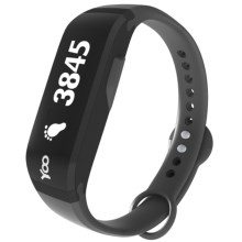 YOO HD Bluetooth Sleep + Activity Fitness Tracker (For Men and Women) in Black - Closeouts