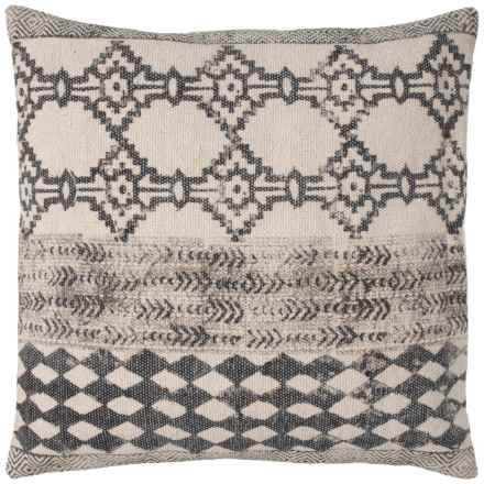 """Yotreasure Dharrie Contemporary Printed Throw Pillow - 22x22"""" in Grey/Beige - Closeouts"""