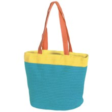 Young's Inc. Colorful Straw Bag in Blue/Yellow/Orange - Closeouts