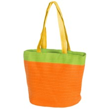 Young's Inc. Colorful Straw Bag in Orange/Green/Yellow - Closeouts
