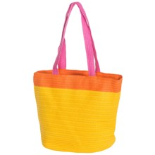 Young's Inc. Colorful Straw Bag in Yellow/Orange/Hot Pink - Closeouts