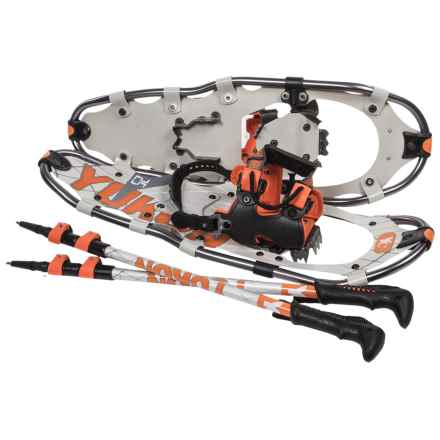 "Yukon Charlie's Advanced Series Snowshoes Kit - 8x25"" in Gray/Orange - Overstock"