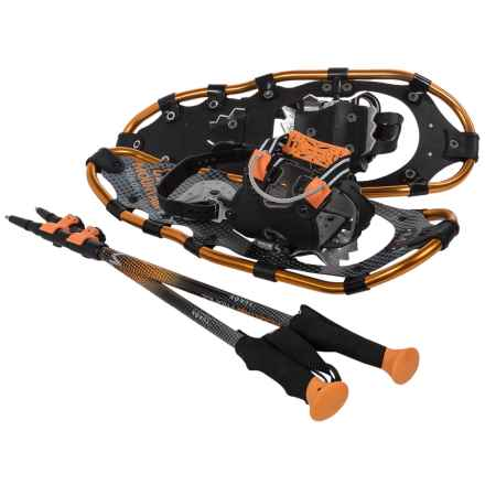 "Yukon Charlie's Mountain Profile Snowshoes Kit - 21"" (For Women) in Copper/Black - Closeouts"