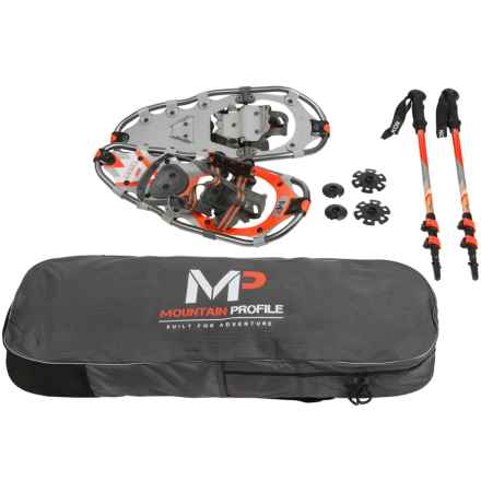 "Yukon Charlie's Mountain Profile Snowshoes Kit - 21"" in See Detail - Closeouts"