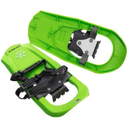 """Yukon Charlie's Scout Molded Youth Snowshoes - 16"""" in Green - Closeouts"""