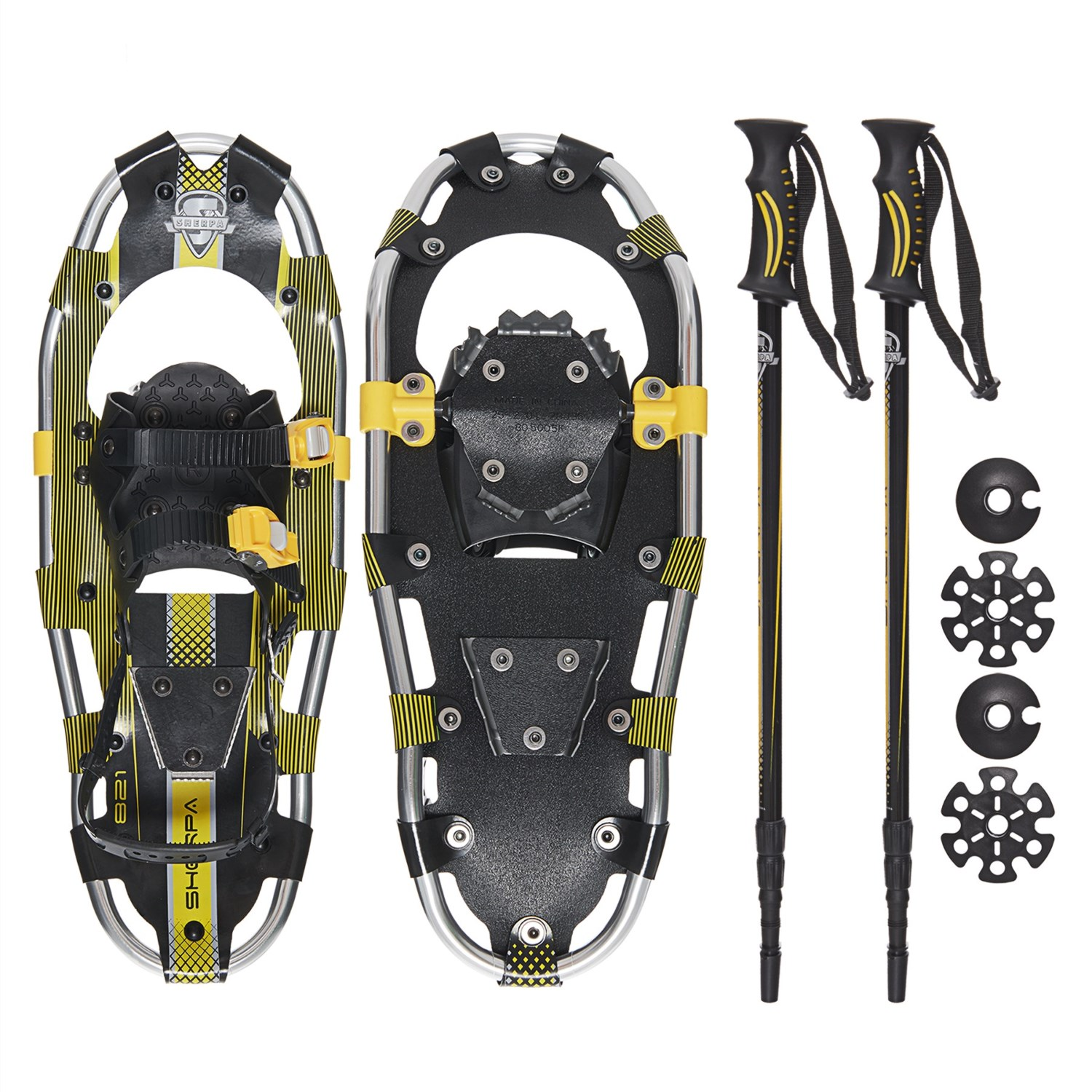 Yukon Charlie's Sherpa 821 Snowshoes Kit with Poles - Save 50%