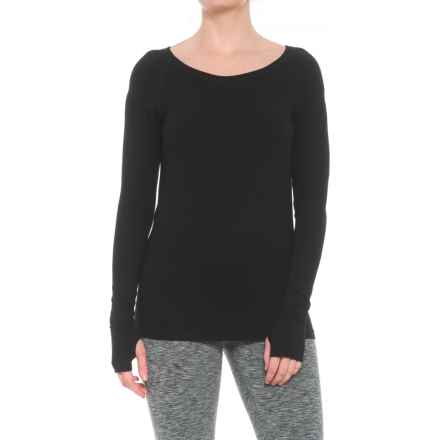 Yummie by Heather Thomson Alex T-Shirt - Long Sleeve (For Women) in Black - Closeouts