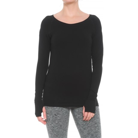 Yummie by Heather Thomson Alex T-Shirt - Long Sleeve (For Women) in Black