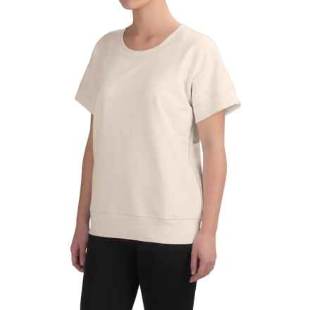 Yummie by Heather Thomson Baby French Terry Box T-Shirt - Short Sleeve (For Women) in Cream - Closeouts