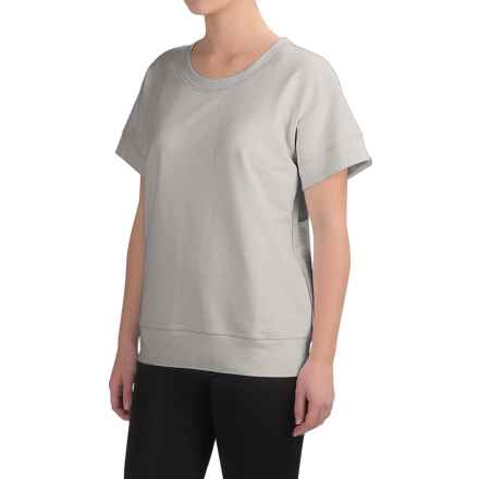 Yummie by Heather Thomson Baby French Terry Box T-Shirt - Short Sleeve (For Women) in Light Gray - Closeouts