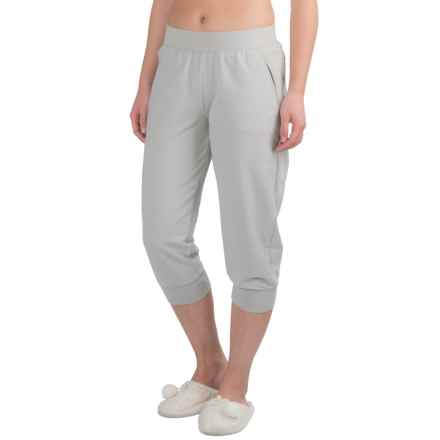 Yummie by Heather Thomson Baby French Terry Capris (For Women) in Light Gray - Closeouts