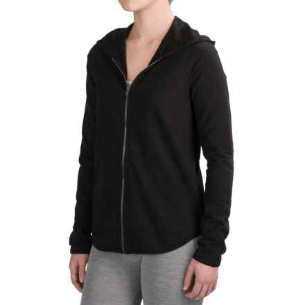 Yummie by Heather Thomson Baby French Terry Hoodie - Full Zip (For Women) in Black - Closeouts