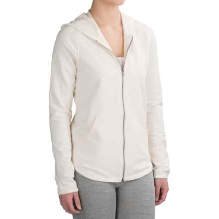 Yummie by Heather Thomson Baby French Terry Hoodie - Full Zip (For Women) in Cream - Closeouts