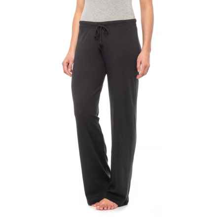 Yummie by Heather Thomson Baby Rib Lounge Pants - Wide Leg (For Women) in Black - Closeouts