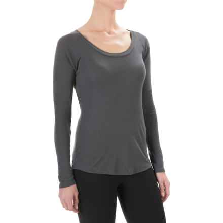 Yummie by Heather Thomson Baby Rib T-Shirt - Long Sleeve (For Women) in Asphalt - Closeouts