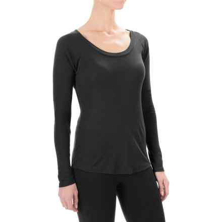 Yummie by Heather Thomson Baby Rib T-Shirt - Long Sleeve (For Women) in Black - Closeouts