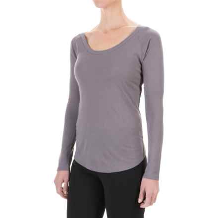 Yummie by Heather Thomson Baby Rib T-Shirt - Long Sleeve (For Women) in Shark - Closeouts