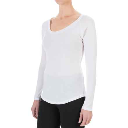 Yummie by Heather Thomson Baby Rib T-Shirt - Long Sleeve (For Women) in White - Closeouts