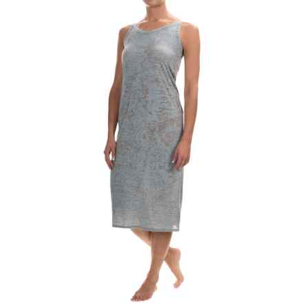 Yummie by Heather Thomson Burnout-Knit Chemise - Sleeveless (For Women) in Plain Air/Light Gray - Closeouts