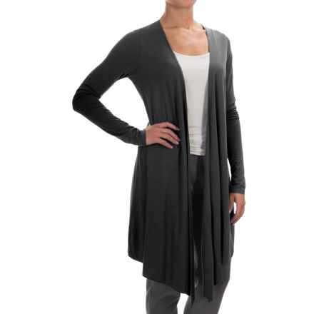 Yummie by Heather Thomson Cascading Cardigan Shirt - Open Front, Long Sleeve (For Women) in Black - Closeouts