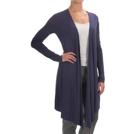 Yummie by Heather Thomson Cascading Cardigan Shirt - Open Front, Long Sleeve (For Women) in Eclipse - Closeouts