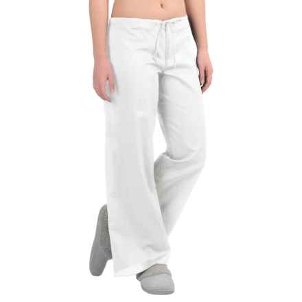 Yummie by Heather Thomson Cotton Voile Lounge Pants (For Women) in White - Closeouts
