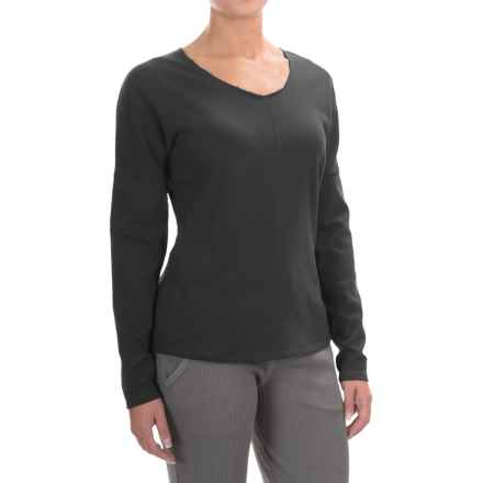 Yummie by Heather Thomson French Terry Shirt - Long Sleeve (For Women) in Black - Closeouts