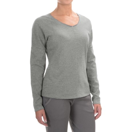 Yummie by Heather Thomson French Terry Shirt - Long Sleeve (For Women) in Heathered Castlerock